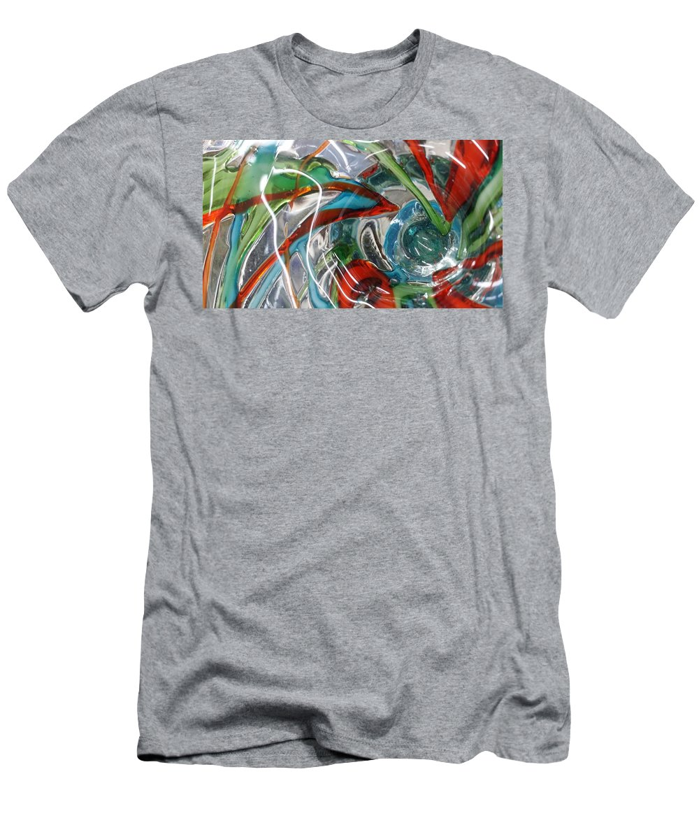 Glass Men's T-Shirt (Athletic Fit) featuring the digital art Bottoms Up 5 by Scott S Baker
