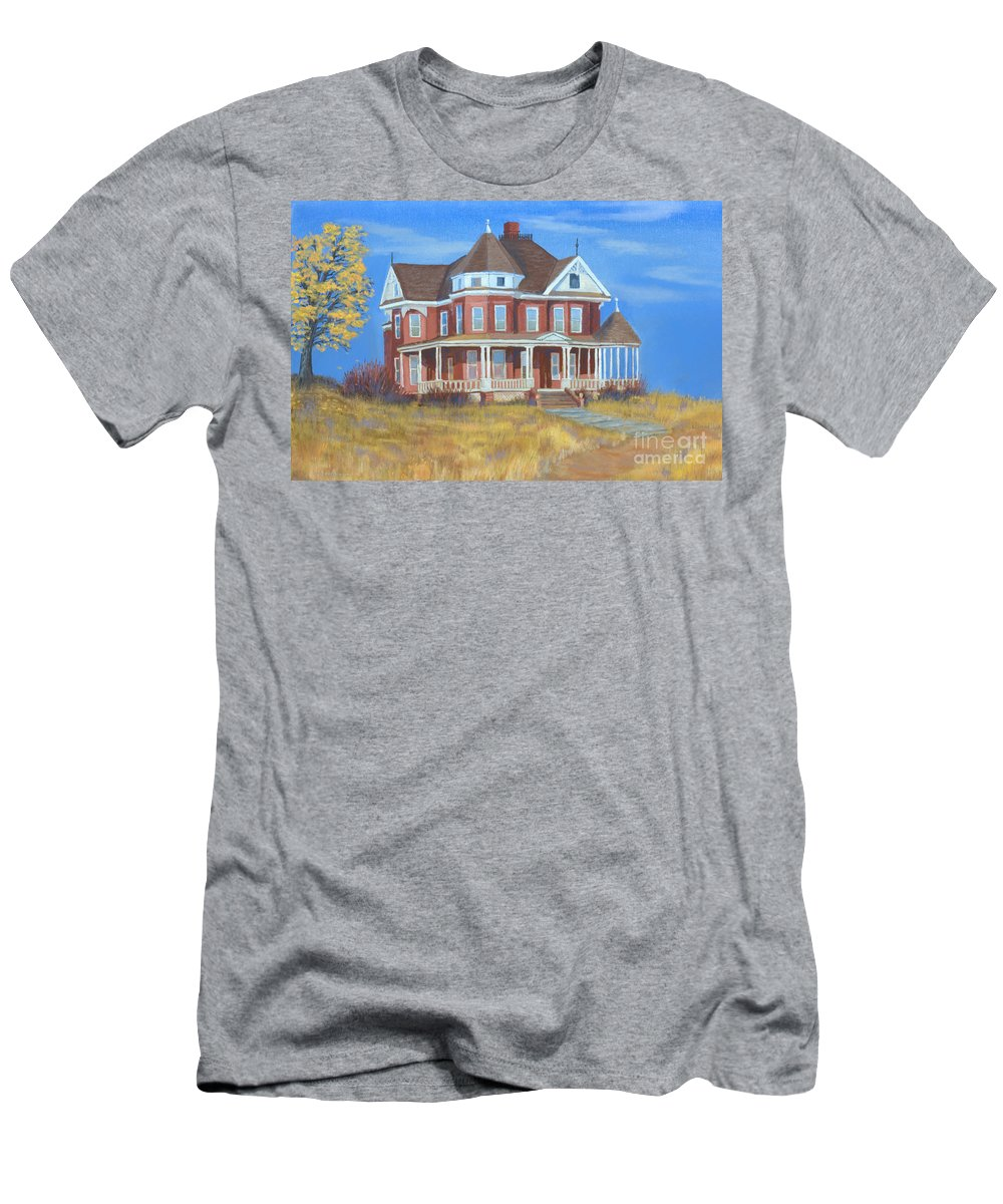 Boulder Men's T-Shirt (Athletic Fit) featuring the painting Boulder Victorian by Jerry McElroy