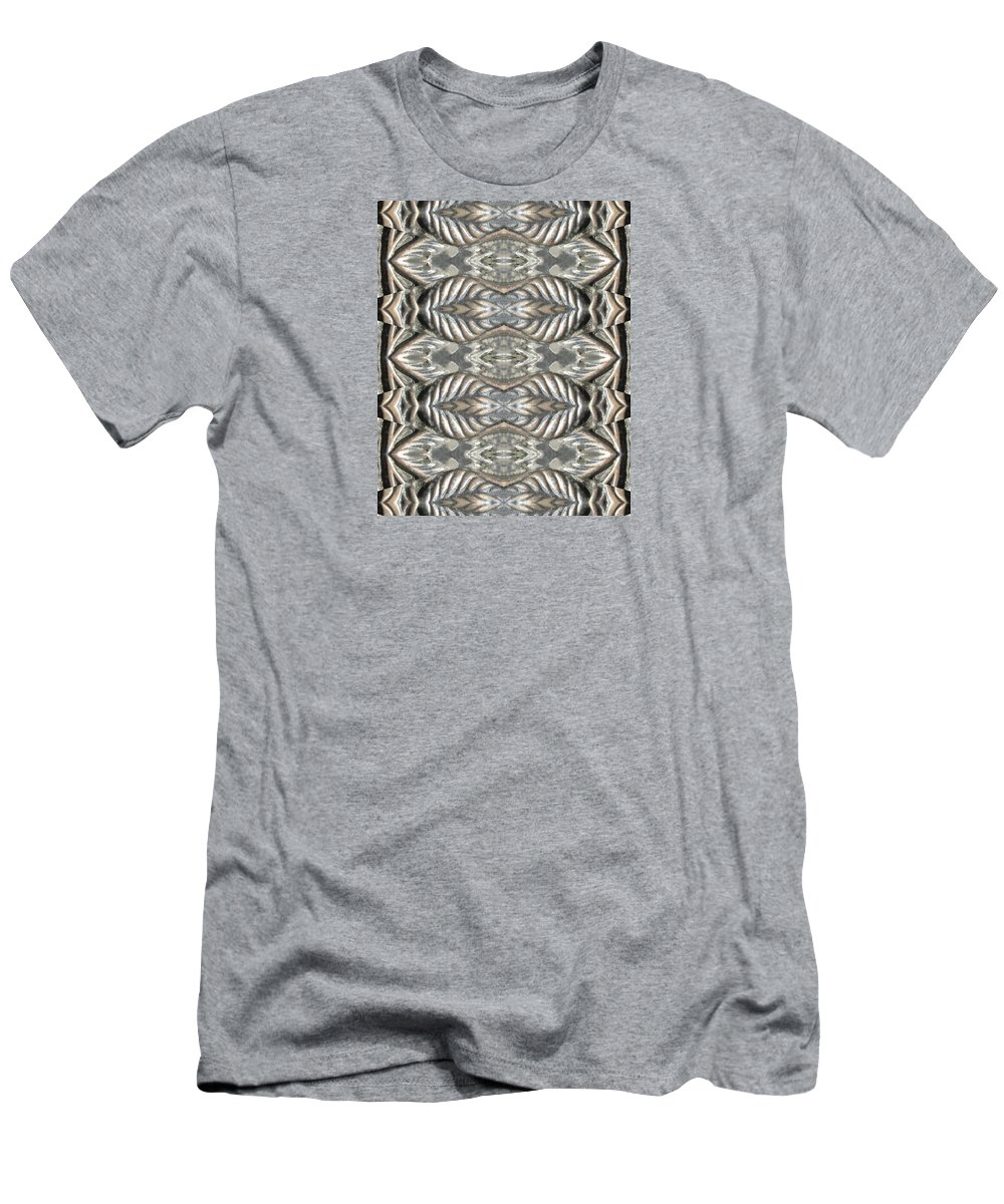 Kaleidoscope Men's T-Shirt (Athletic Fit) featuring the photograph Brass Rose Pillar by M E Cieplinski