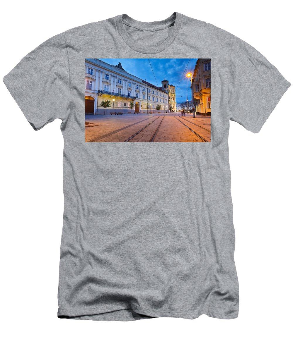 Slovakia Men's T-Shirt (Athletic Fit) featuring the photograph bratislava 'XXXVI by Milan Gonda