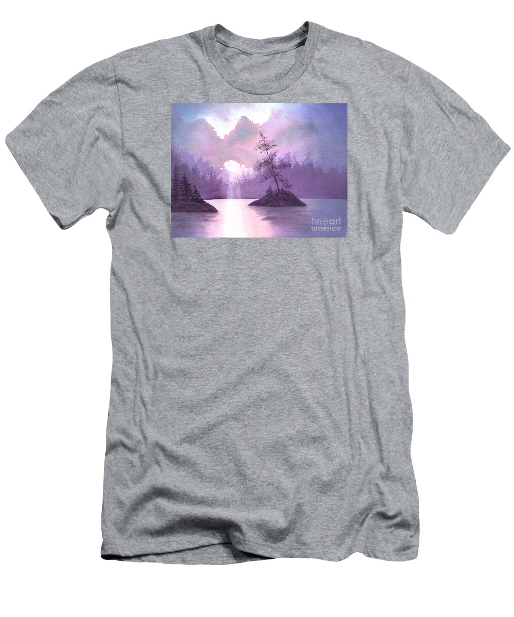 Landscape Men's T-Shirt (Athletic Fit) featuring the painting Breakthrough by Lynn Quinn