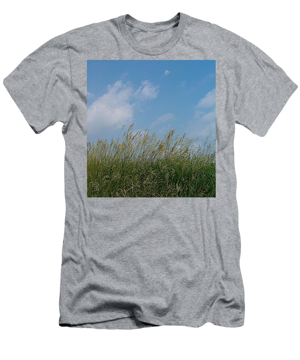 Sky Men's T-Shirt (Athletic Fit) featuring the photograph Breezy Day by Sara Raber