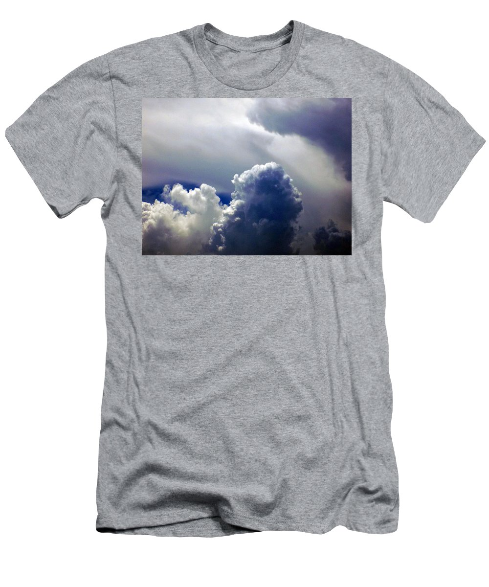 Clouds Men's T-Shirt (Athletic Fit) featuring the photograph Brewing by William Tasker