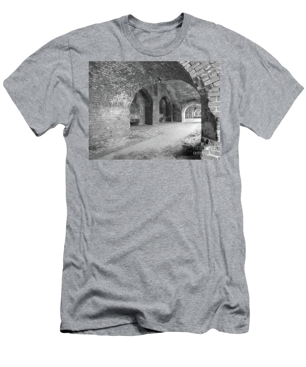 Architecture Men's T-Shirt (Athletic Fit) featuring the photograph Brick Architecture by Michelle Powell
