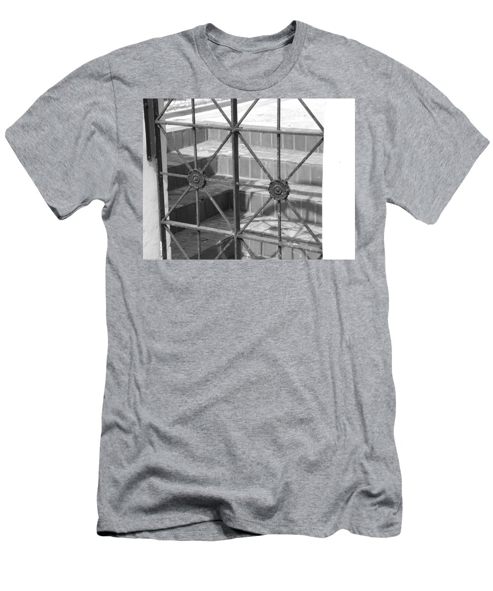 Black And White Men's T-Shirt (Athletic Fit) featuring the photograph Bricks And Iron by Rob Hans