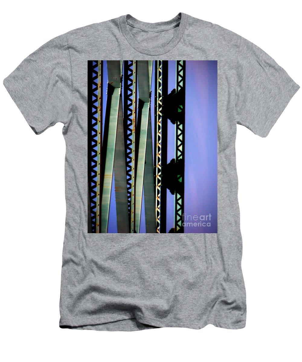 Bridge Men's T-Shirt (Athletic Fit) featuring the photograph Bridge by Amanda Barcon