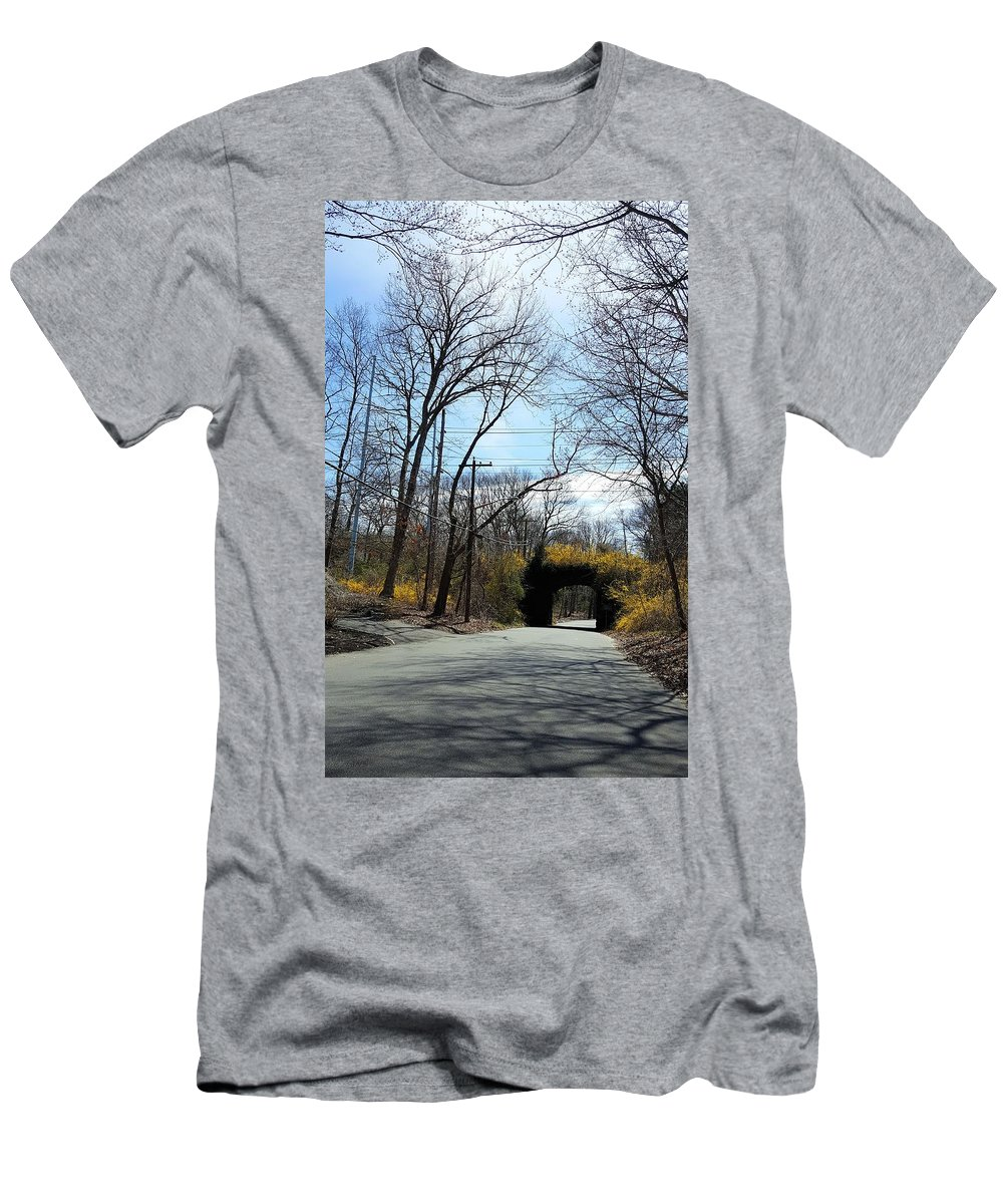The Great Frame Up Men's T-Shirt (Athletic Fit) featuring the photograph Bridge Of Colors by Rob Hans