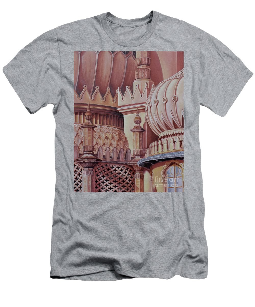 Brighton Men's T-Shirt (Athletic Fit) featuring the painting Brighton Palace by Pauline Sharp