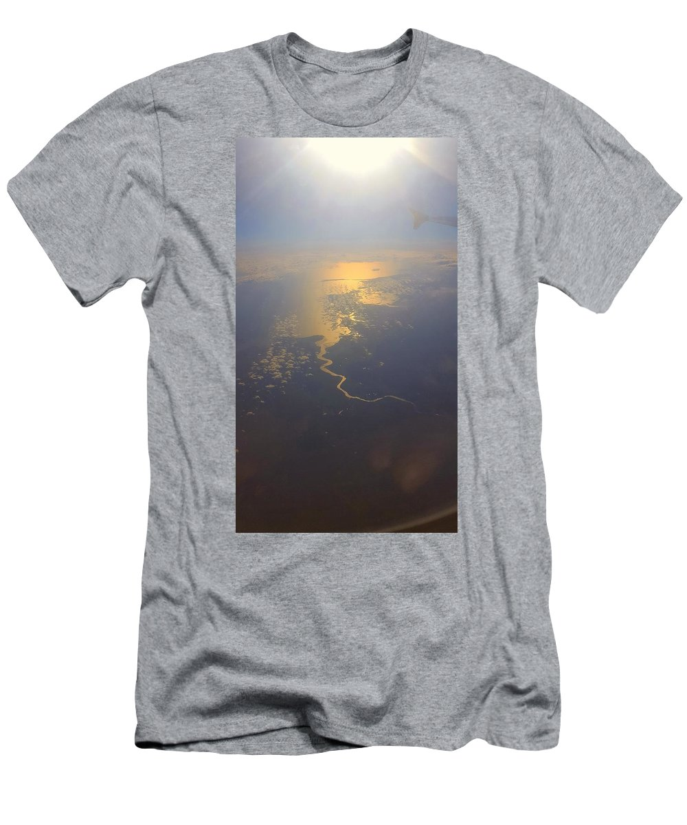 Men's T-Shirt (Athletic Fit) featuring the photograph Britain From Afar.2 by Tru Tography