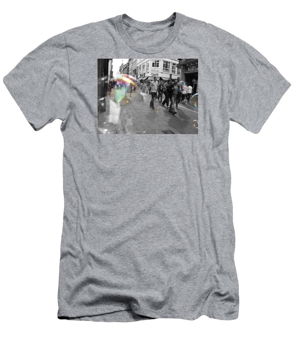 Photography Men's T-Shirt (Athletic Fit) featuring the photograph Bubbles. Copenhagen. 2 by Cristina Rettegi