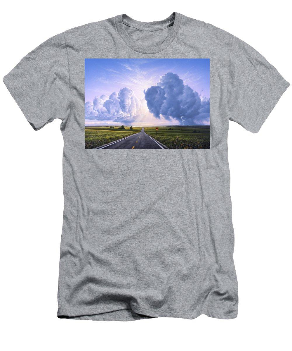 Buffalo T-Shirt featuring the painting Buffalo Crossing by Jerry LoFaro