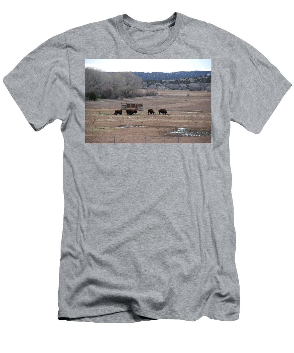 Buffalo Men's T-Shirt (Athletic Fit) featuring the photograph Buffalo New Mexico by Rob Hans
