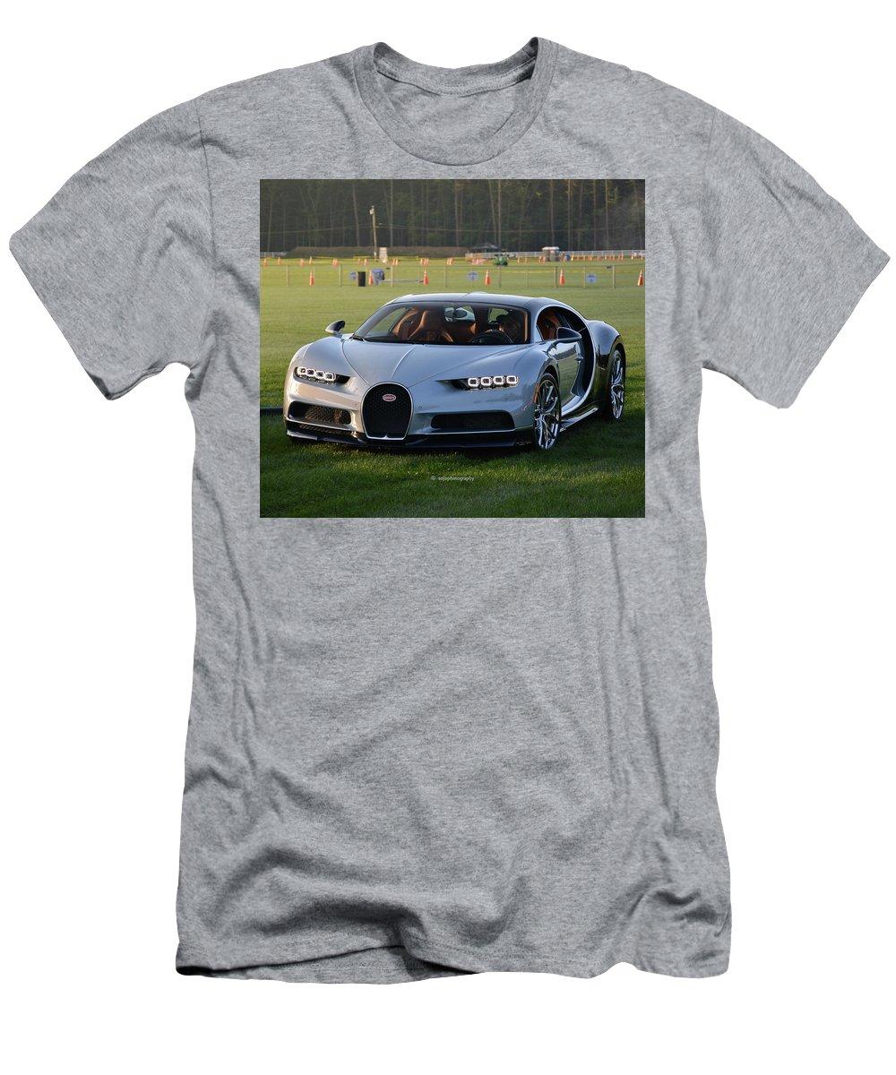 Car Men's T-Shirt (Athletic Fit) featuring the photograph Bugatti Chiron by David Porrini