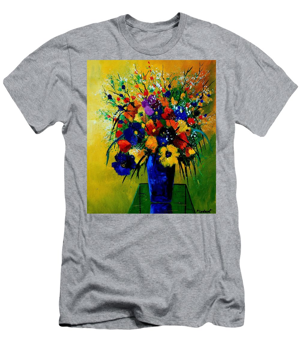 Poppies Men's T-Shirt (Athletic Fit) featuring the painting Bunch 0508 by Pol Ledent