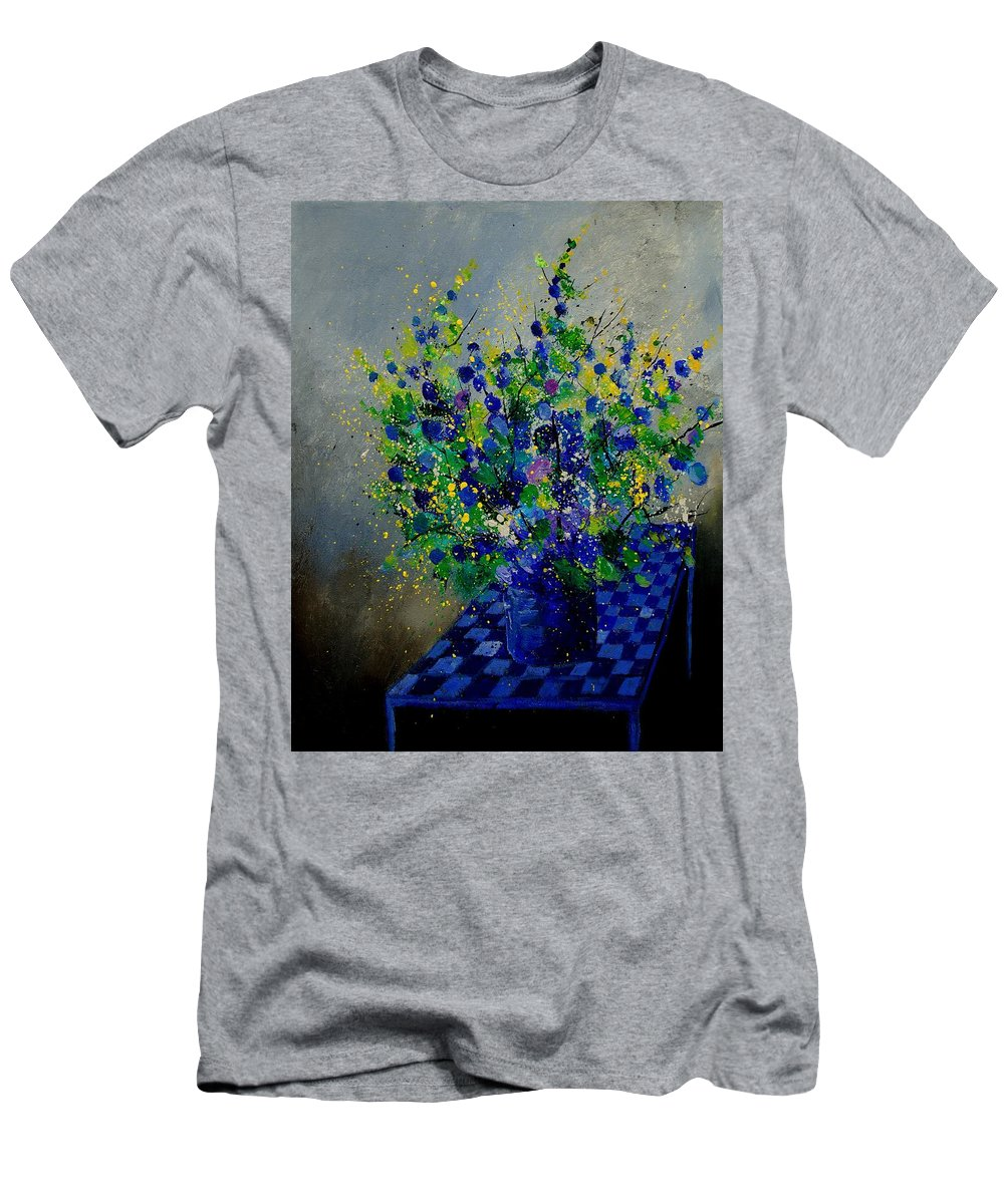 Flowers T-Shirt featuring the painting Bunch 9020 by Pol Ledent