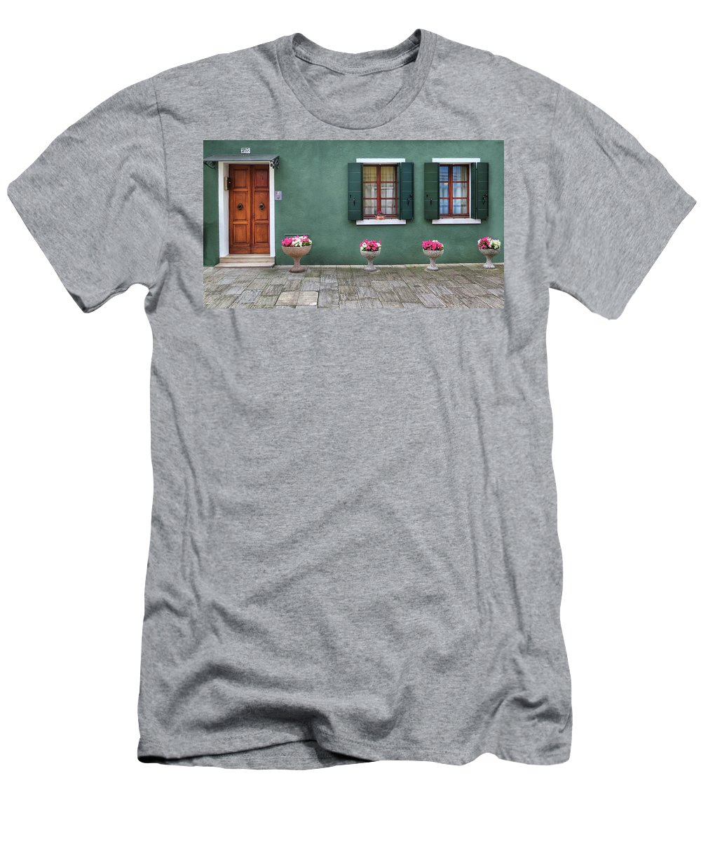 Burano Men's T-Shirt (Athletic Fit) featuring the photograph Burano Green by Dave Mills