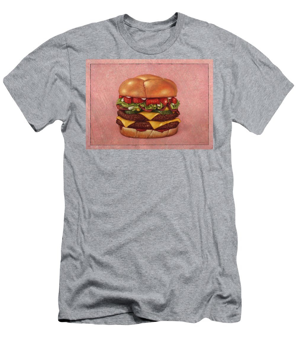 Burger Men's T-Shirt (Athletic Fit) featuring the painting Burger by James W Johnson