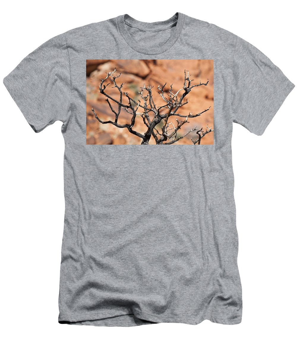 Tree Men's T-Shirt (Athletic Fit) featuring the photograph Burned Wood by Kelley King