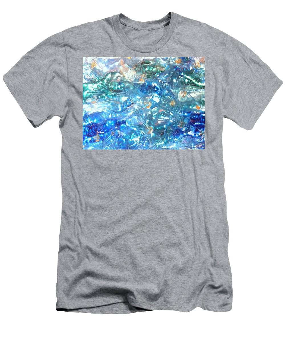 Encaustic Men's T-Shirt (Athletic Fit) featuring the painting Burst by Christine Johanns