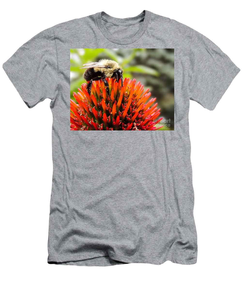 Bee Men's T-Shirt (Athletic Fit) featuring the photograph Busy As A Bee by Keith Ptak
