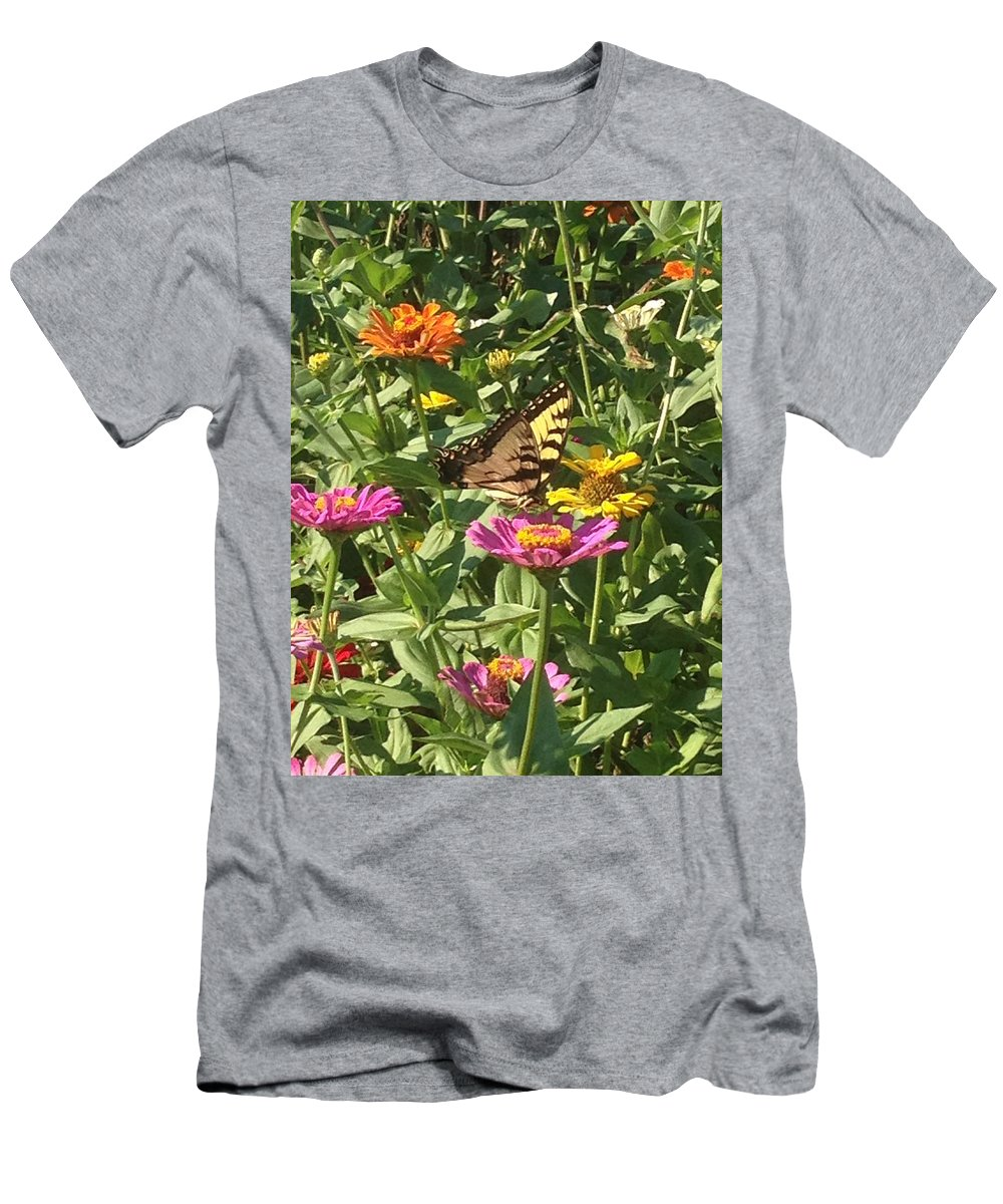 Nature Men's T-Shirt (Athletic Fit) featuring the photograph Butterfly Breakfast by Darren Rudd