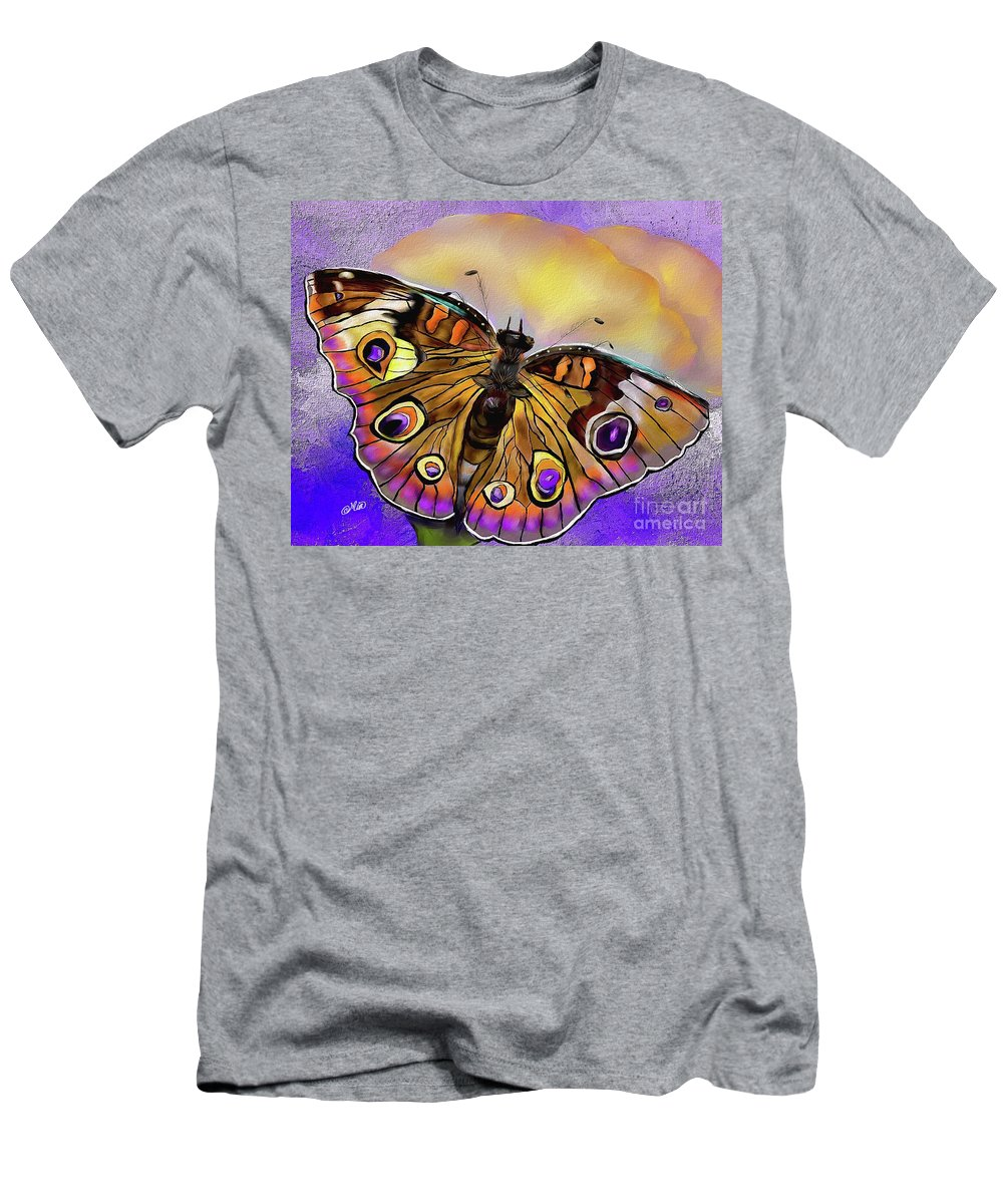 Butterfly Men's T-Shirt (Athletic Fit) featuring the painting Butterfly by Mia Hansen