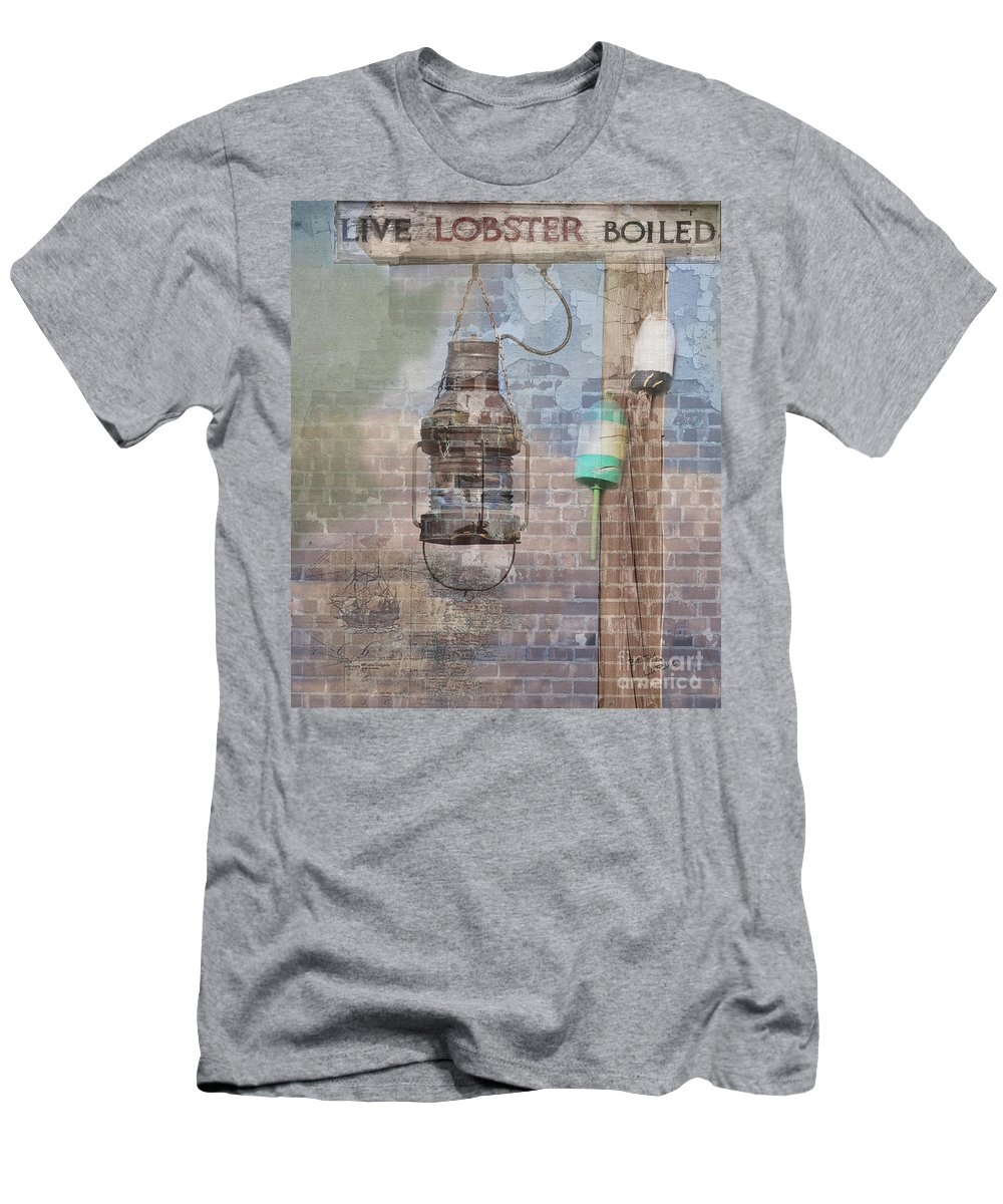 Composite Men's T-Shirt (Athletic Fit) featuring the photograph By The Sea In Color by Betty LaRue