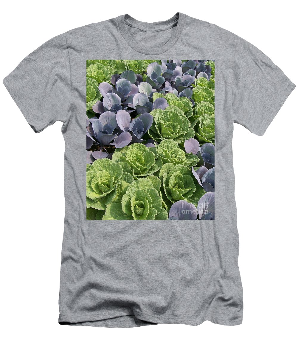 Ornamental Men's T-Shirt (Athletic Fit) featuring the photograph Cabbage Patch by Laurie Eve Loftin