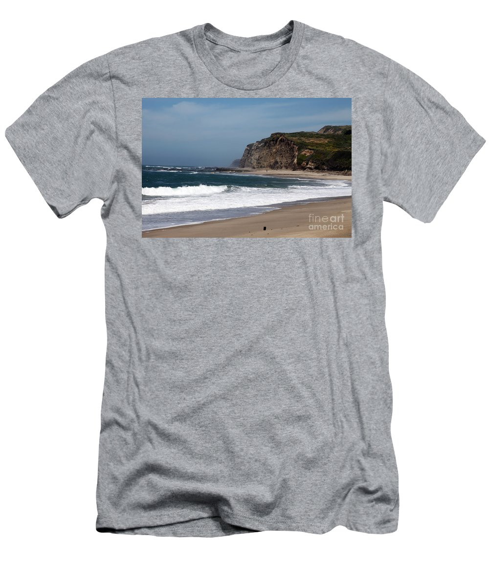 California Men's T-Shirt (Athletic Fit) featuring the photograph California Coast - Blue by Amanda Barcon