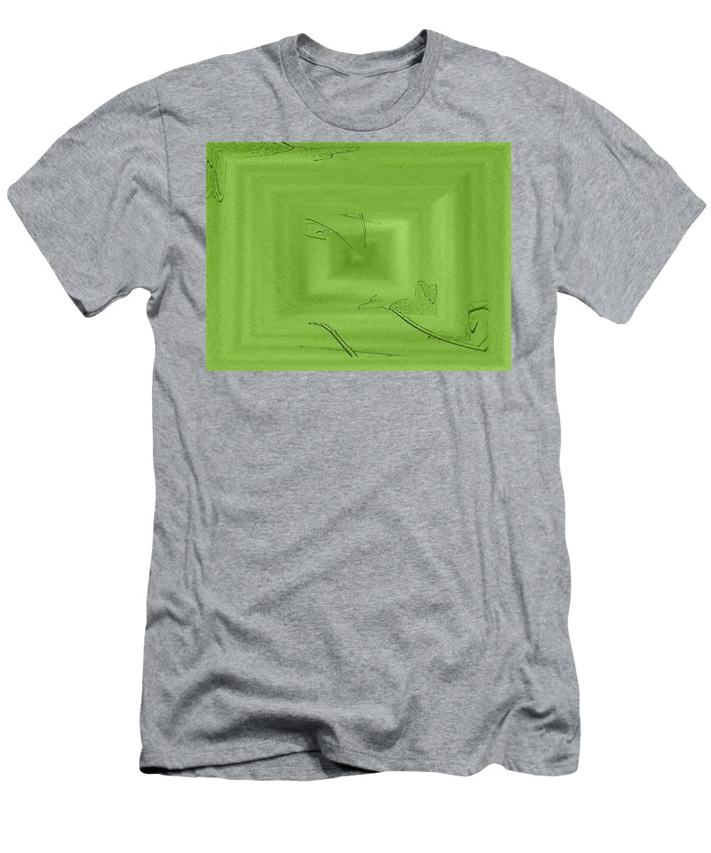 Abstract Men's T-Shirt (Athletic Fit) featuring the digital art Call Me Misty Green by Tim Allen