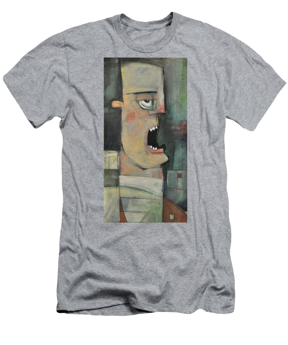Man Men's T-Shirt (Athletic Fit) featuring the painting Calling The Play by Tim Nyberg