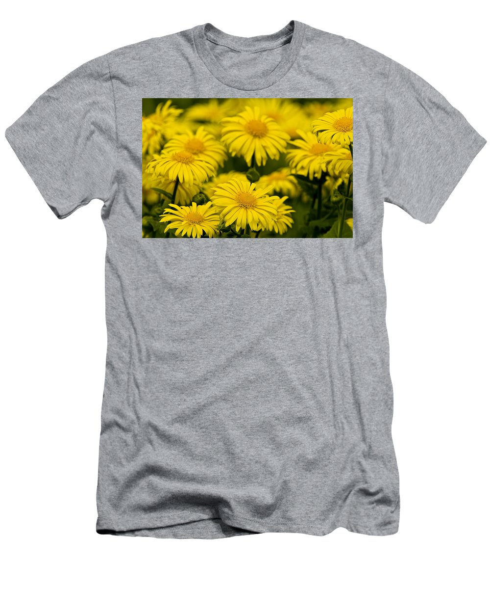 Camphorweed Men's T-Shirt (Athletic Fit) featuring the photograph Camphorweed by Michael Cummings