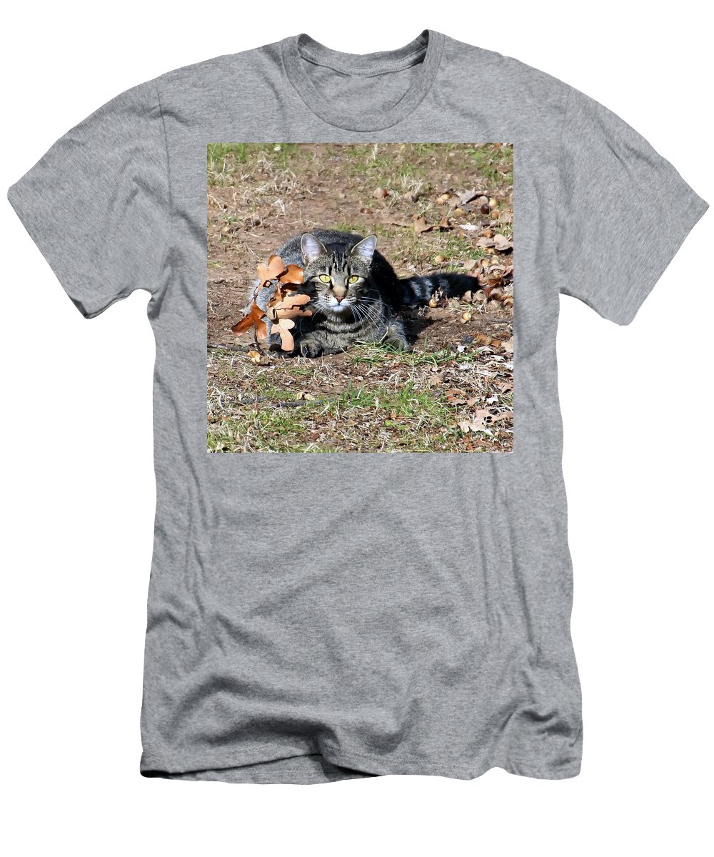 Animal Men's T-Shirt (Athletic Fit) featuring the photograph Can You Still See Me by Carolyn Fletcher