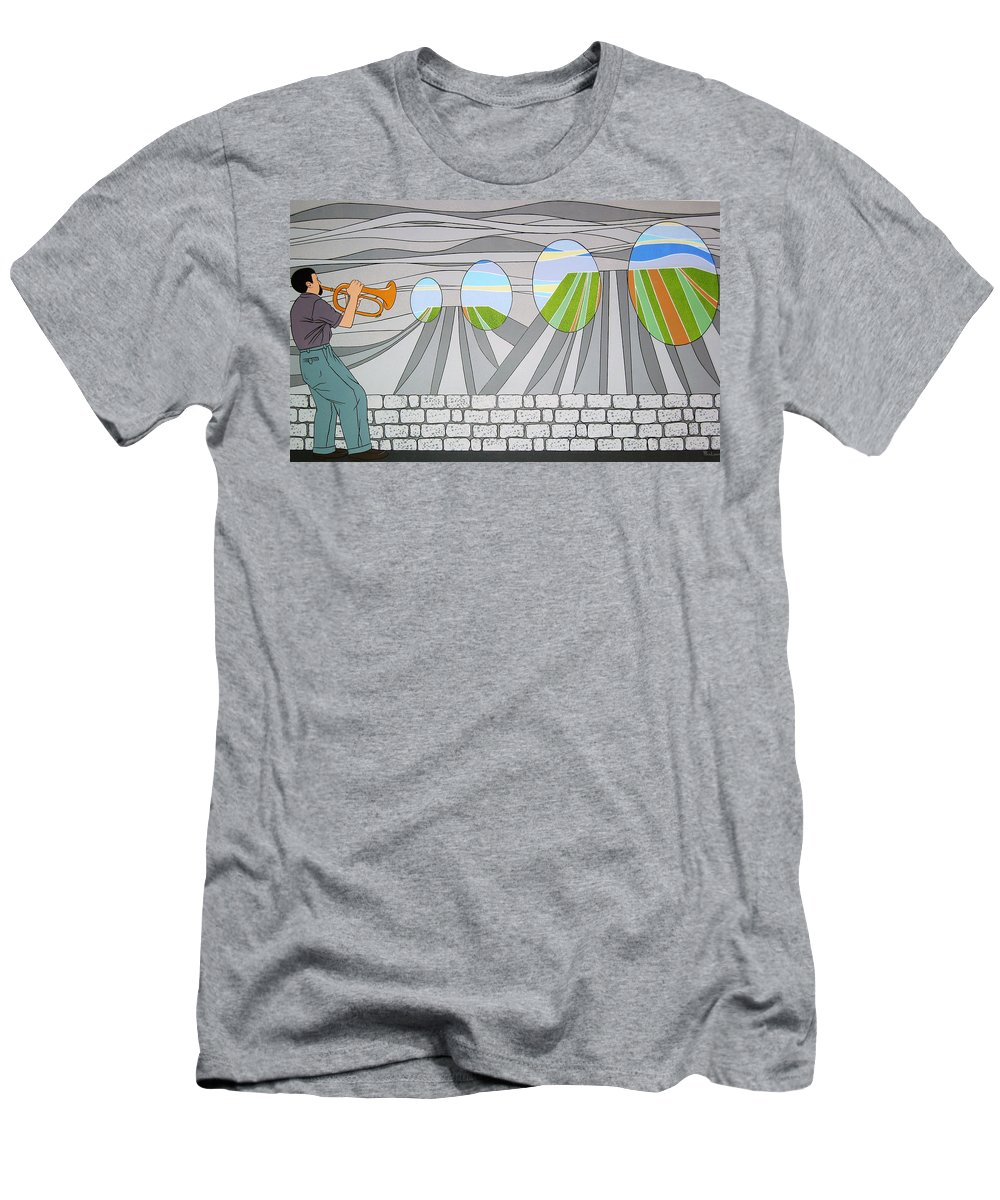 Trumpet Men's T-Shirt (Athletic Fit) featuring the painting Candy Lips by Patricia Van Lubeck