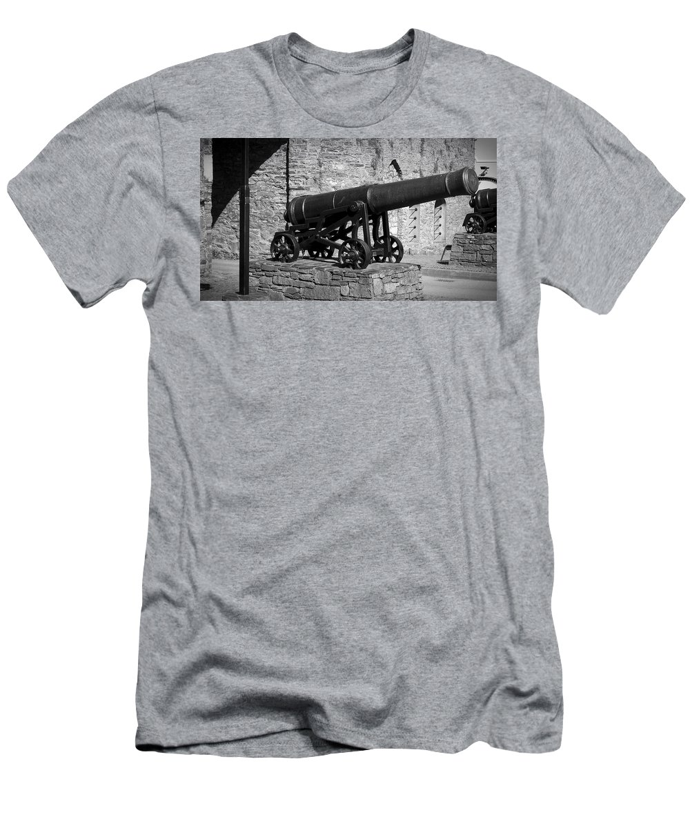 Irish Men's T-Shirt (Athletic Fit) featuring the photograph Cannon At Macroom Castle Ireland by Teresa Mucha