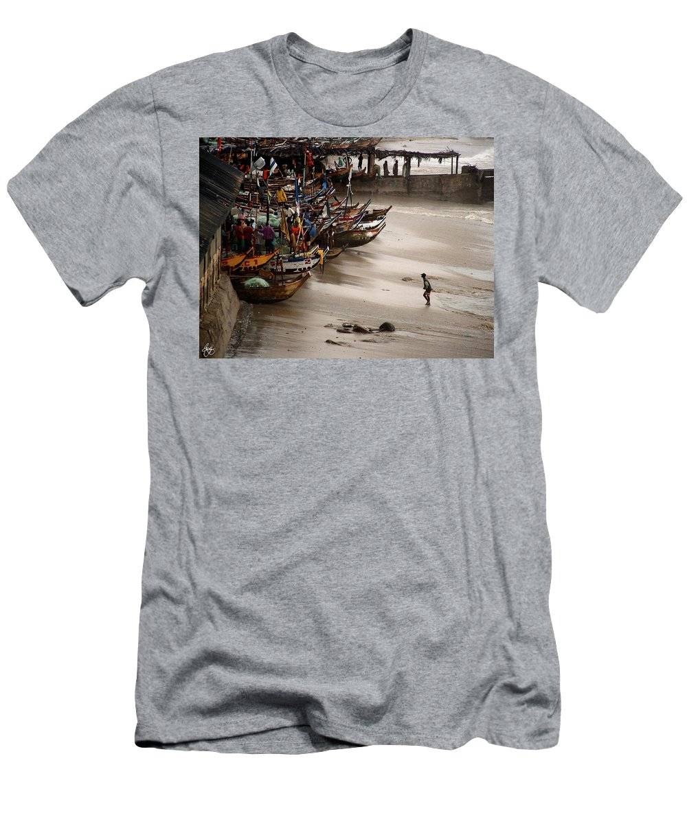 Ghana Men's T-Shirt (Athletic Fit) featuring the photograph Cape Coast Storm by Wayne King