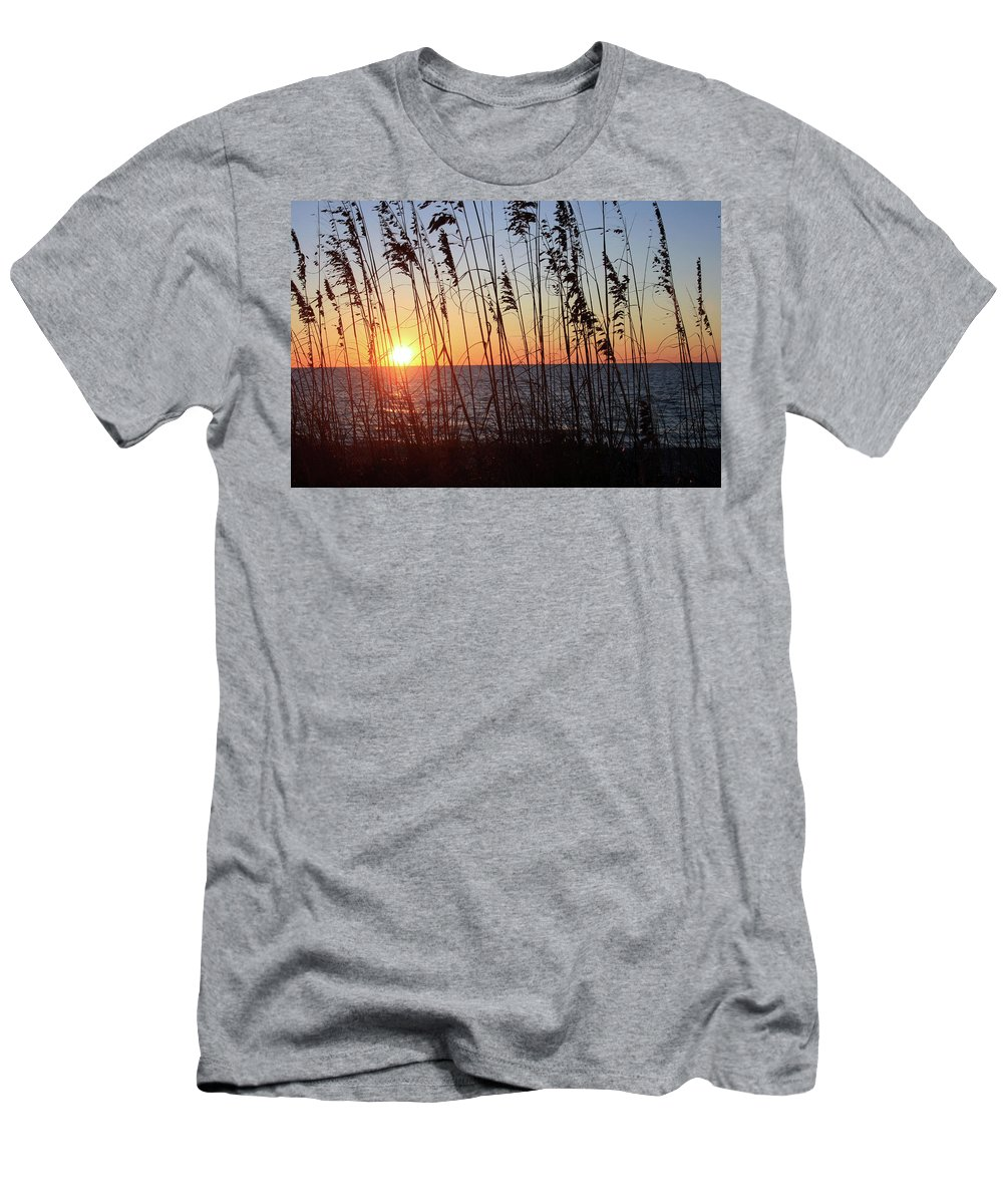 Captiva Island Men's T-Shirt (Athletic Fit) featuring the photograph Captiva Sunset by Mark Mickelsen