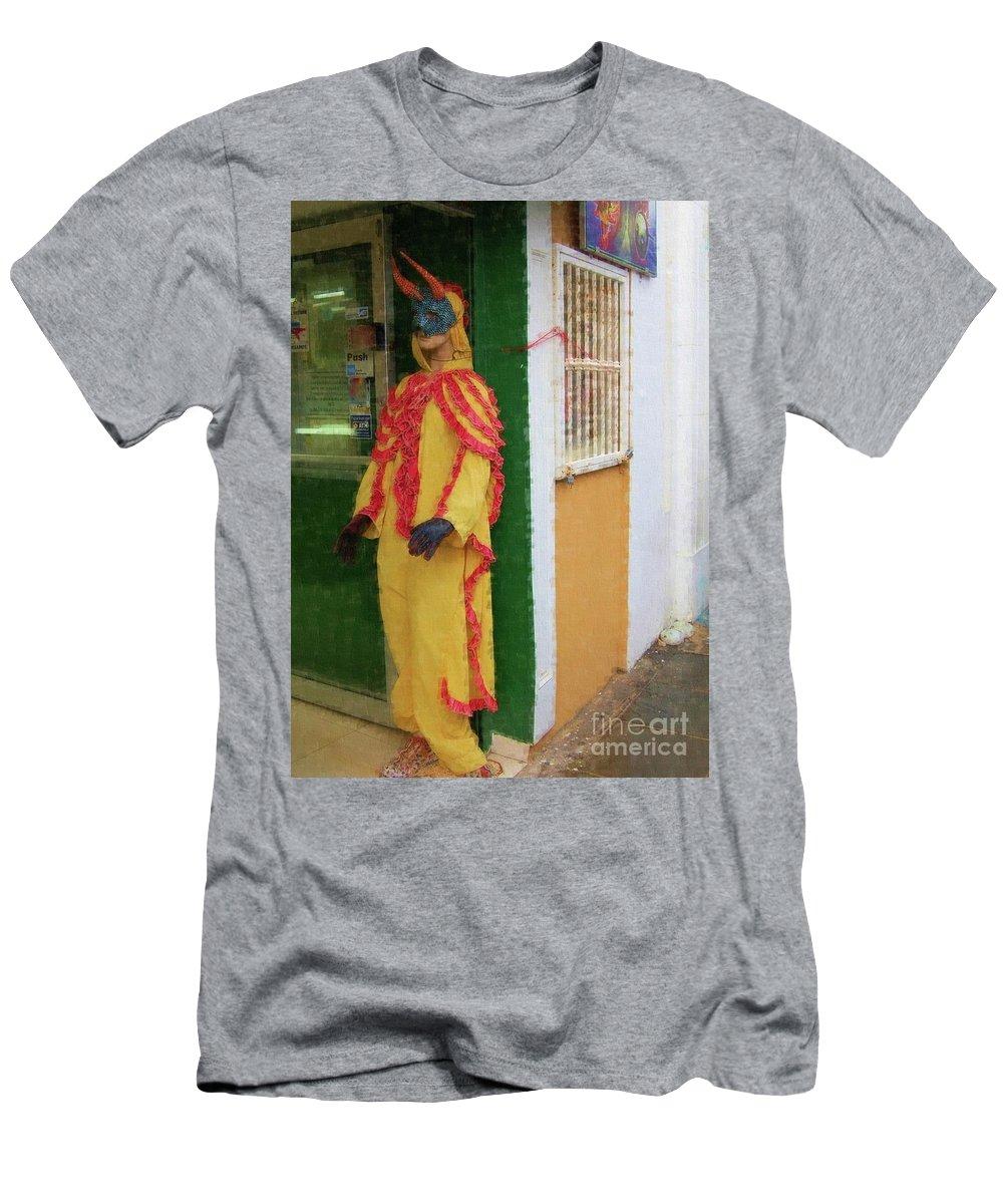 Mask Men's T-Shirt (Athletic Fit) featuring the photograph Careta Hombre by Debbi Granruth