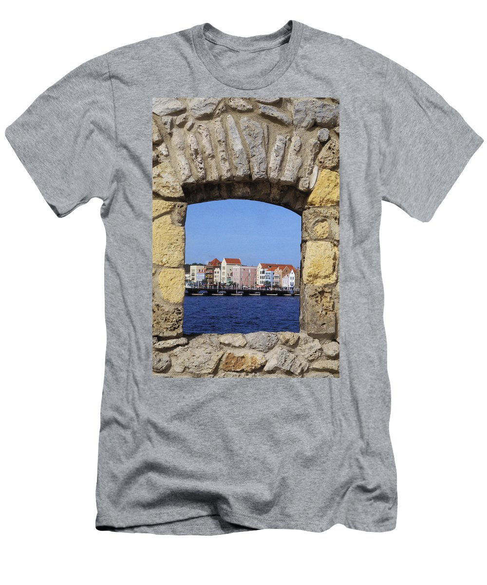 Architecture Men's T-Shirt (Athletic Fit) featuring the photograph Caribbean View by Bill Bachmann - Printscapes