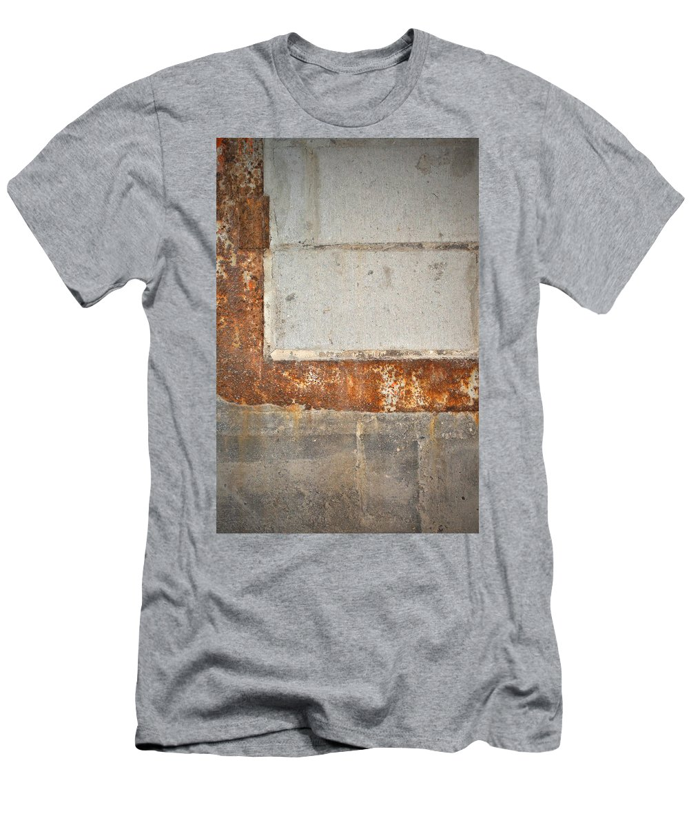 Architecture Men's T-Shirt (Athletic Fit) featuring the photograph Carlton 14 - Abstract Concrete Wall by Tim Nyberg