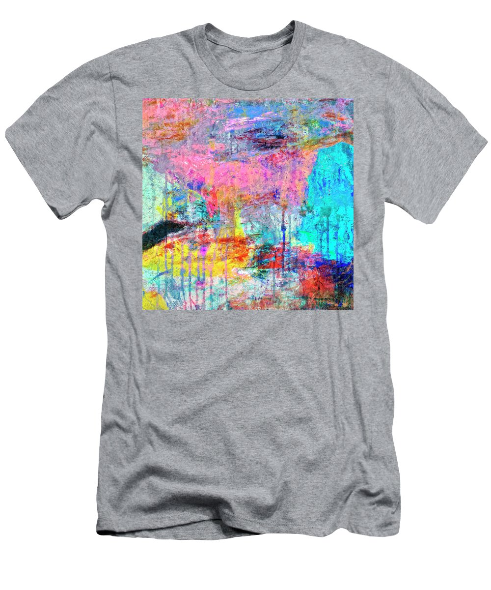 Abstract Men's T-Shirt (Athletic Fit) featuring the painting Carnival by Dominic Piperata