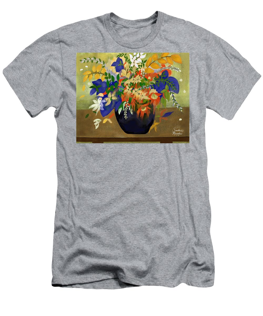 Floral Men's T-Shirt (Athletic Fit) featuring the digital art Vase Of Flowers by Sandra Reedus