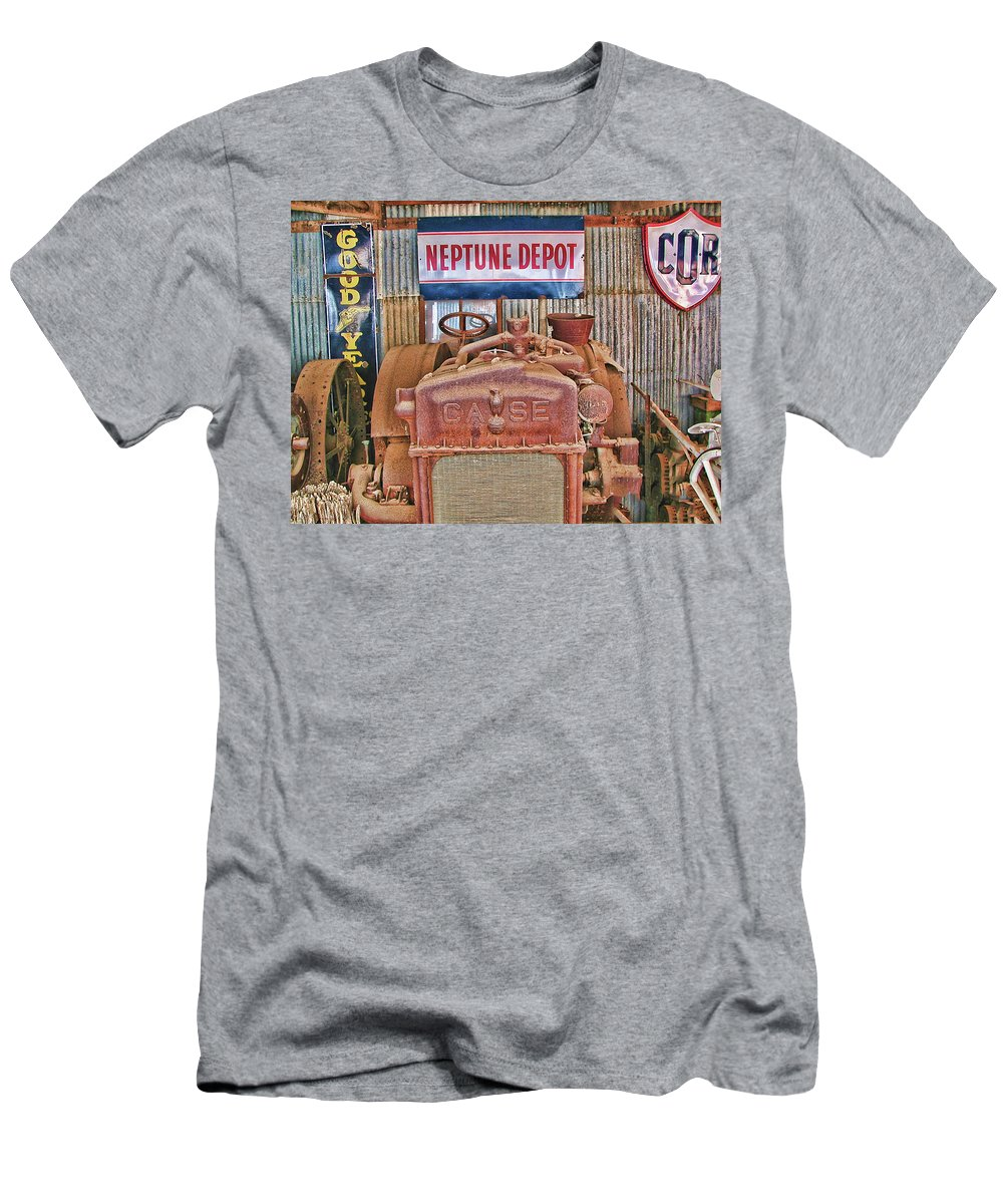 Case Tractor 1918-1929 Men's T-Shirt (Athletic Fit) featuring the photograph Case Tractor 1918-1929 by Douglas Barnard
