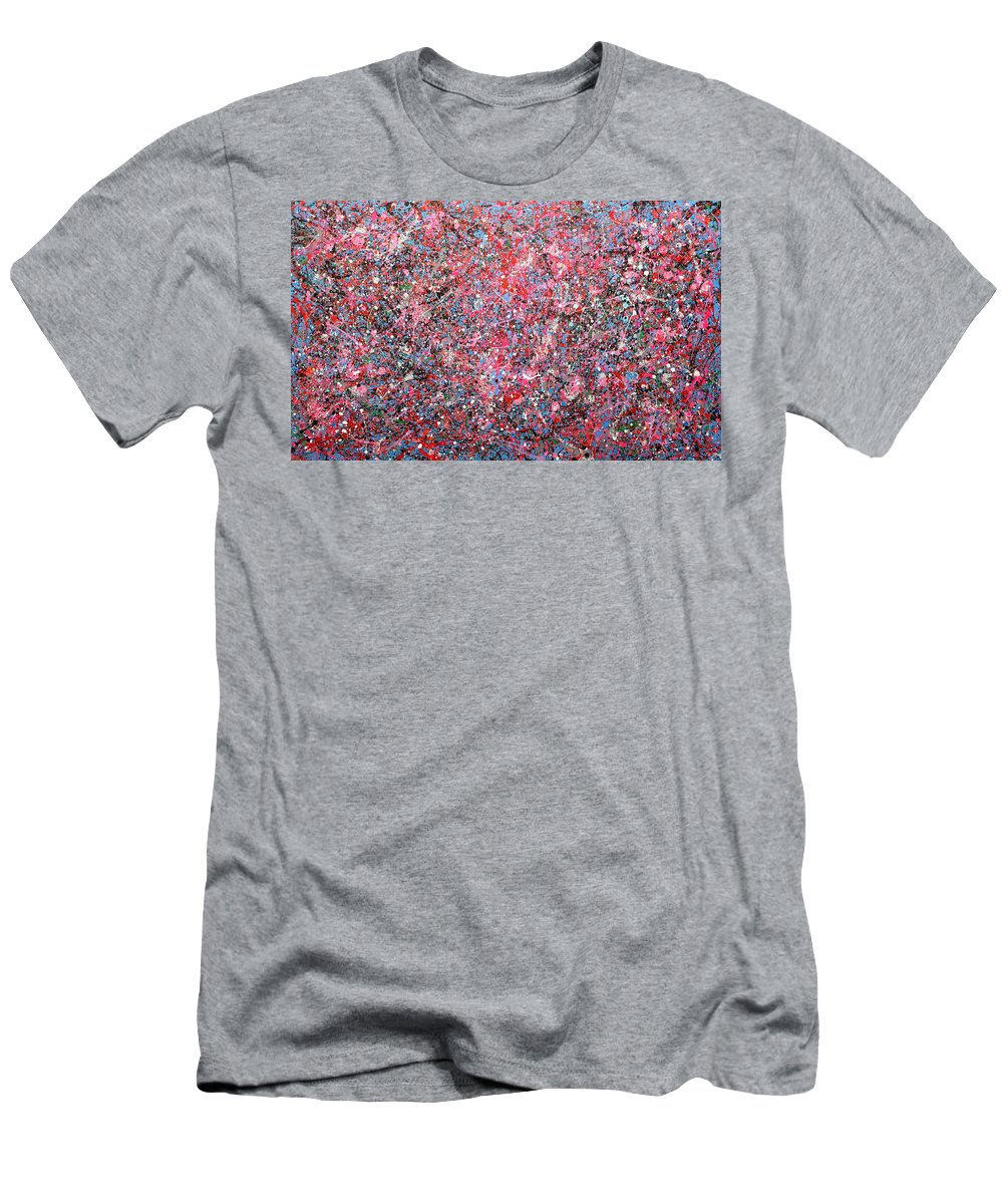 Abstract Men's T-Shirt (Athletic Fit) featuring the painting Cassiopeia by Ericka Herazo