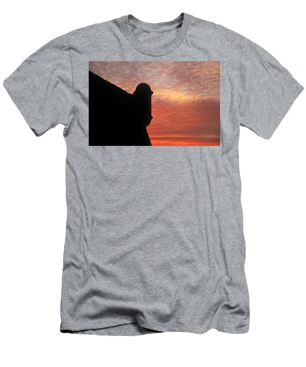 Castillo De San Marcos National Monument Florida Men's T-Shirt (Athletic Fit) featuring the photograph Castillo De San Marcos by David Lee Thompson