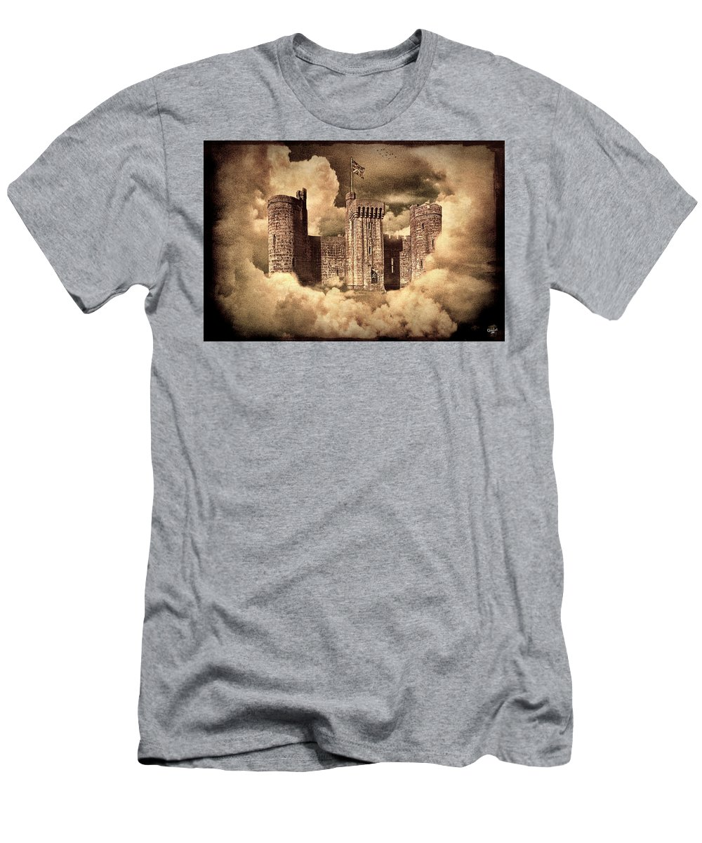 Castle Men's T-Shirt (Athletic Fit) featuring the photograph Castle In The Clouds by Chris Lord