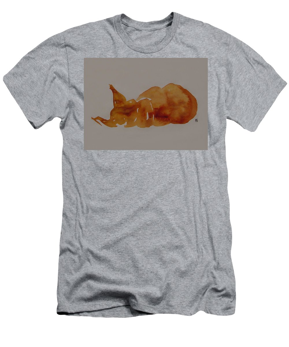 Domestic Men's T-Shirt (Athletic Fit) featuring the painting Cat Nap by Shirley Heyn