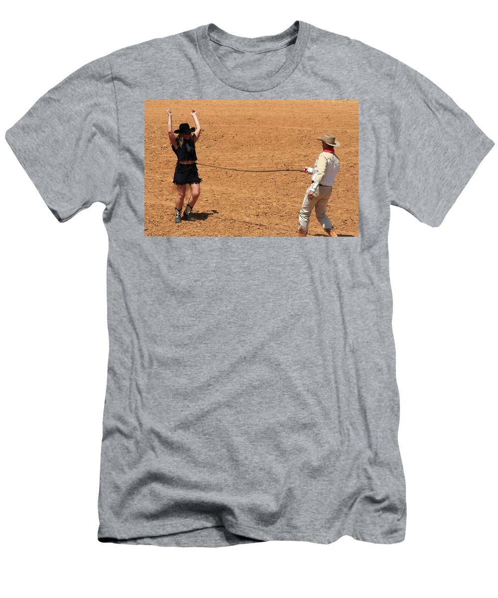 Western Art Men's T-Shirt (Athletic Fit) featuring the photograph Catch And Release by Kim Henderson