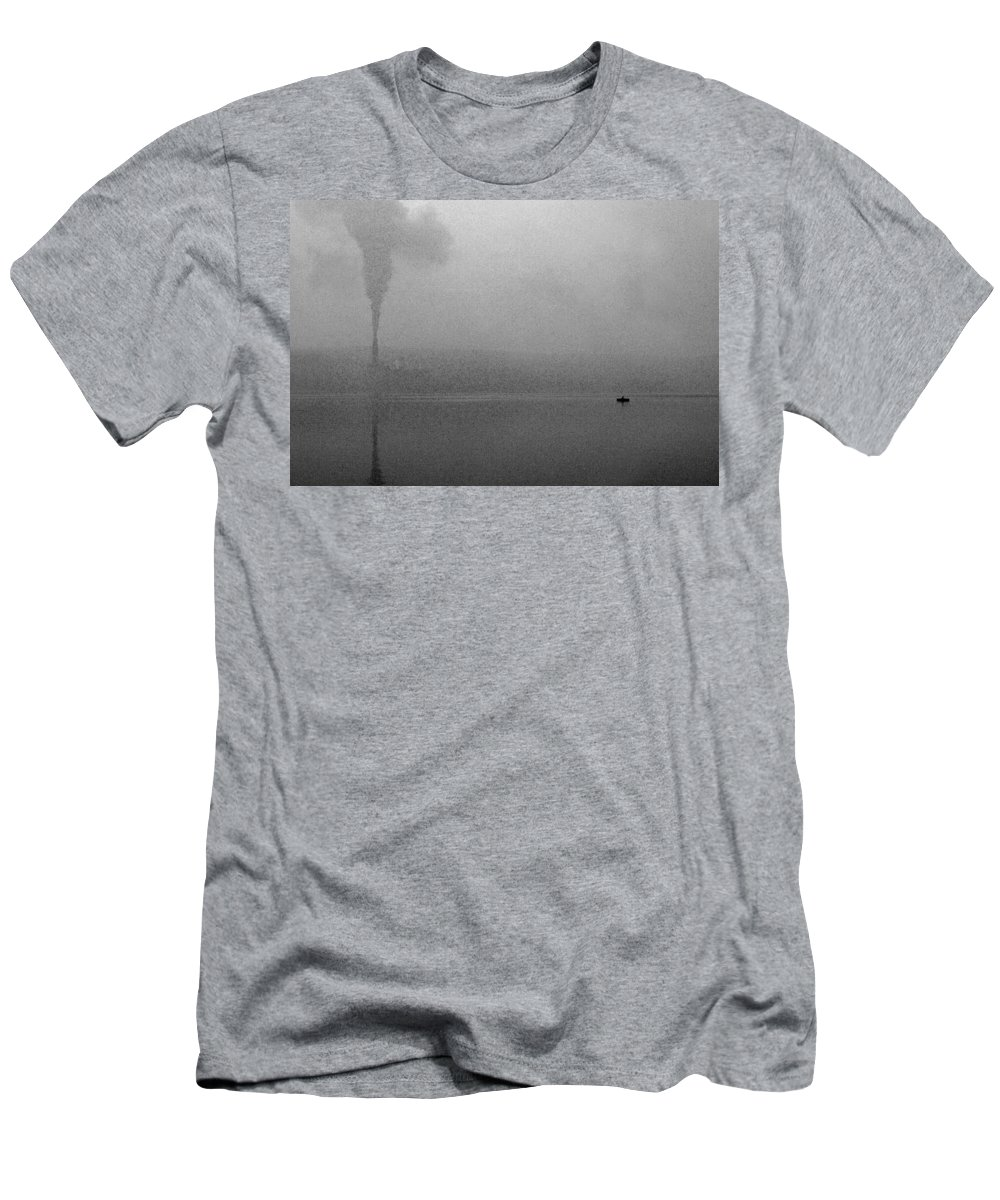 Solitude Men's T-Shirt (Athletic Fit) featuring the photograph Cayuga Solitude by Jean Macaluso