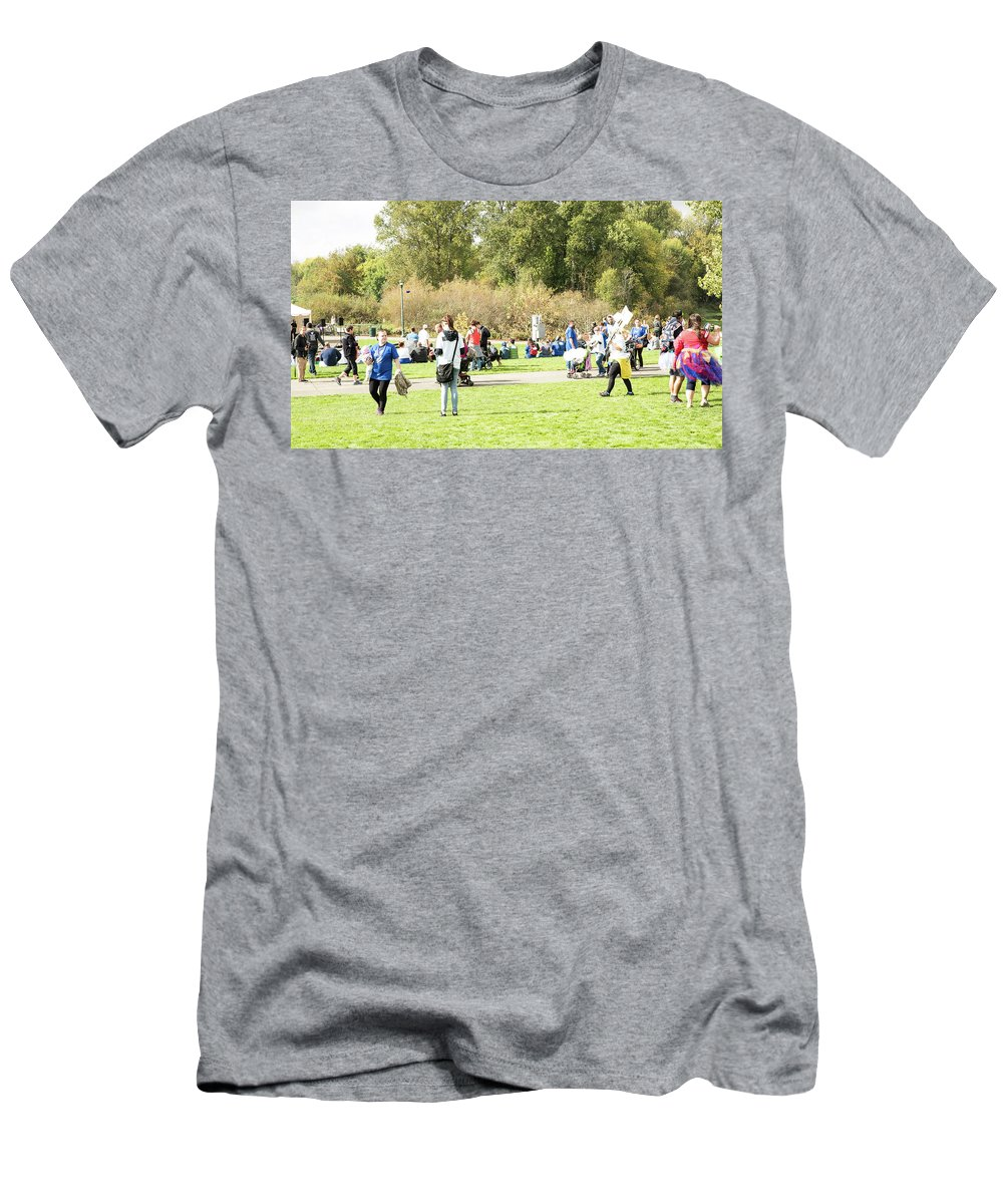 Celebration Of Life In Colorful Skirts Men's T-Shirt (Athletic Fit) featuring the photograph Celebration Of Life In Colorful Skirts by Tom Cochran